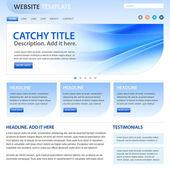 Website template - business design - blue white color