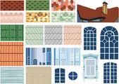 Dach-Texturen und Windows-Auflistung