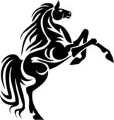Immagine vettoriale - cavallo in stile tribale. vinile