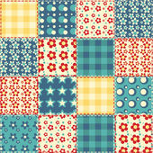 Quilt seamless pattern Vector patchwork background