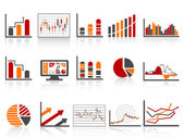 Different financial management reports icon in simple color