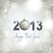 Happy new year with snowflakes 2013 vector illustration