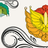 Oriental floral background. Element for design.