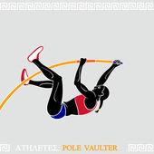 Sportovec skok o tyči
