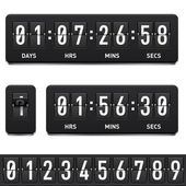 Countdown timer Illustration on white background for design