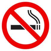 Das Zeichen nicht rauchen