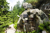 Symbolischen friedhof in vysoke tatry (high tatras), slowakei