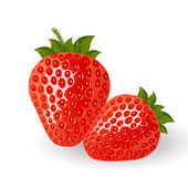 Vector illustration of isolated red strawberries