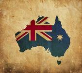 Ročník mapa Austrálie na papíře grunge