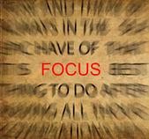 Blured testo su carta depoca con focus su focus
