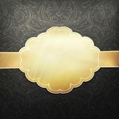 Šablona návrhu retro zlaté karty. vektor, eps 10