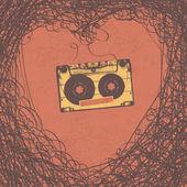 Loving retro music retro poster design Vector EPS10