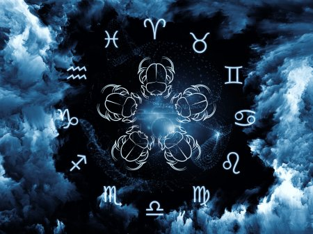 Постер, плакат: Astrology Background, холст на подрамнике