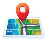 Modern gps Térkép ikonra