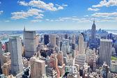New Yorkban manhattan panoráma