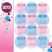 2013 Calendar Vector Eps10
