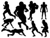 Amerikai futball játékosok sziluett