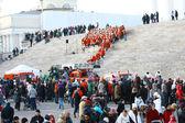 Helsinki, Finnország - november 20.: hagyományos karácsonyi utcai op