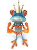 Král žabák zobrazeno láska