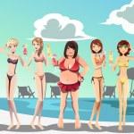 Постер, плакат: Women in bikini