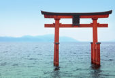 Temple Gate on the Lake Biwa