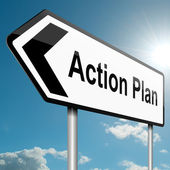 Action plan concept.