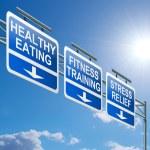 Постер, плакат: Healthy lifestyle concept