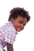 Bildnis eines Knaben mit niedlichen schwarzen baby
