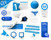 Set of blue vector progress icons