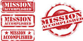 A selection of mission accomplished success stamps