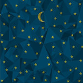 Night sky made from crumpled paper Vector eps10