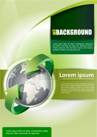 Постер, плакат: Vector background with continents for brochure, холст на подрамнике