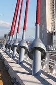 Zavěšený most talavera, stavební a rozměr 185 m