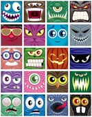 Set of 20 square avatars