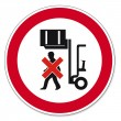 Постер, плакат: Prohibition signs BGV icon pictogram Do not walk under raised load