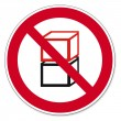 Постер, плакат: Prohibition signs BGV icon pictogram Stacked one above the other prohibited