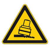 Warning Signs warning of the danger of tilting rolls prepared on White Background in Adobe Illustrator