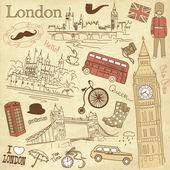 Vintage scarabocchi di Londra