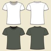 šedé a bílé tričko šablona