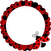 Scalable vectorial image representing a ladybug circle frame isolated on white