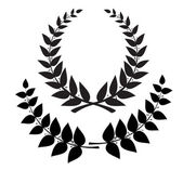 Set black wreath and laurel branch vector eps10