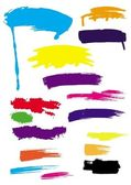 Brush strokes set of color vector elements