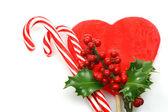 Karácsonyi candy bot egy ága a vörös szarvas a holly