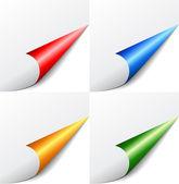 Vector colored corners set