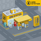 Vector illustration of gasoline station