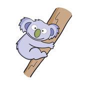 Vector illustration of smiling cute cartoon koala