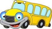 Vector Illustration of School bus cartoon