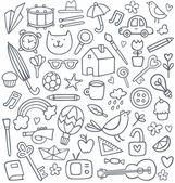 Vector set of 50 doodles