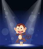 Illustration of a monkey on stage