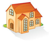 Illustration of a house on a whitte background